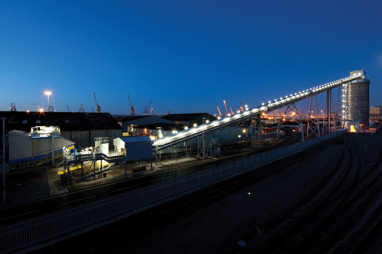 Queen Elizabeth Dock, Hull Rail Loading of biomass facility for Drax