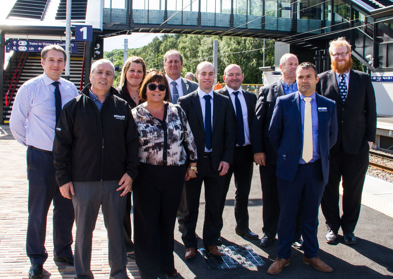 Spencer Group, Northern and Network Rail Site team for Kirkstall Forge Station