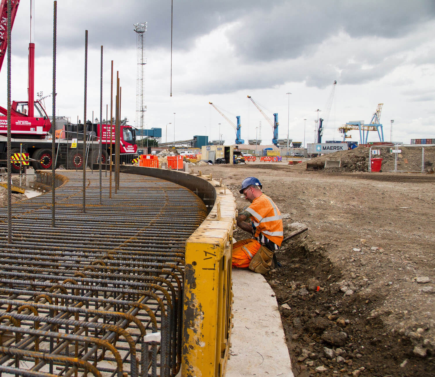 Spencer Group has begun work on the construction of one of three storage silos as part of integrated facilities for the handling, storage and rail-loading of wood pellets at the Port of Tyne.