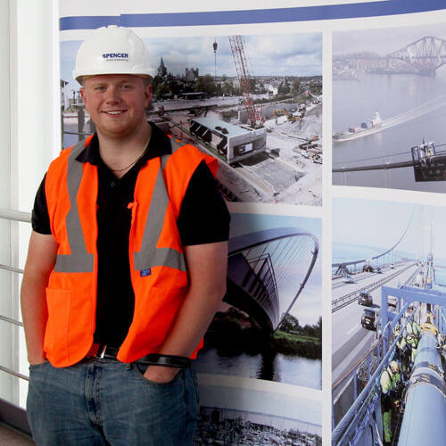 Spencer Group apprentices Ryan Walters