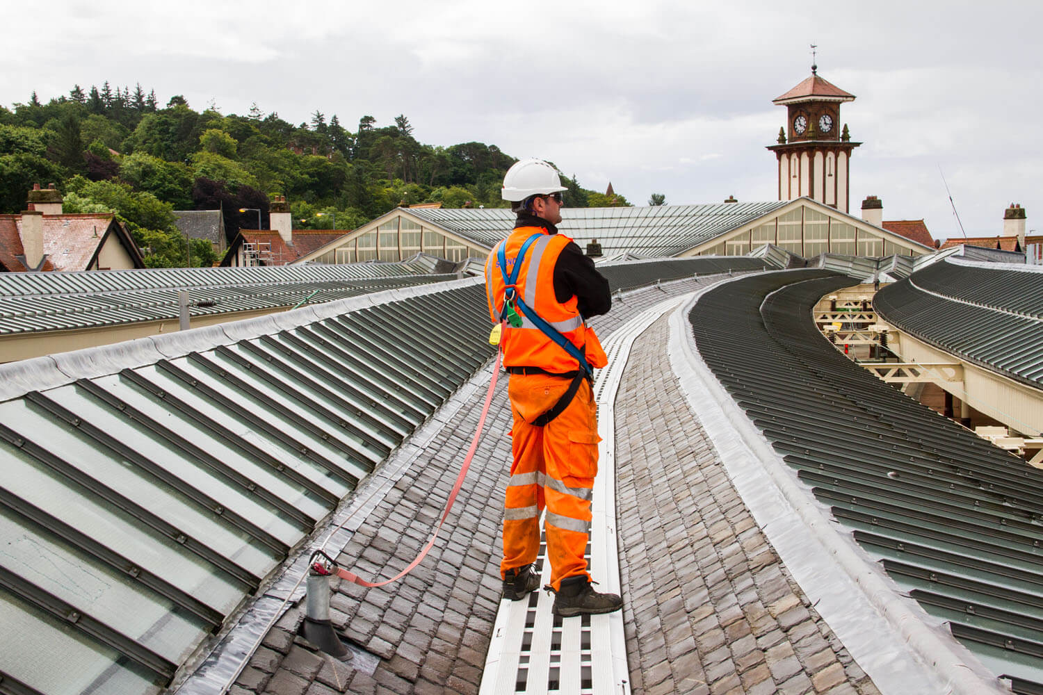 Wemyss Bay Station Roof Access and Spencer Group Employee