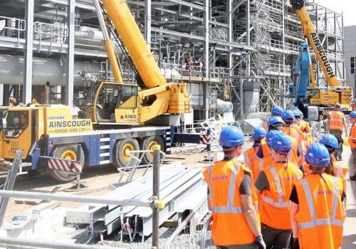 UTC students go behind the scenes as huge Energy Works power plant takes shape cover image